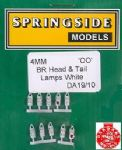 Springside DA19 - OO Scale BR Head & Tail Lamps White (5)